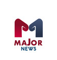 major news letter m icon vector image