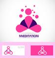 Meditation yoga zen pink logo vector image vector image