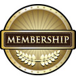 membership gold label vector image vector image