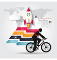 Modern infographics with businessman ride bicycle vector image vector image