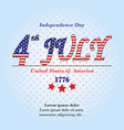 ndependence day card 4 th july background with te vector image vector image