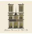 Notre Dame Cathedral in Paris icon vector image