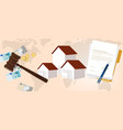property housing home law gavel wooden hammer vector image vector image