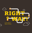 right way business concept with winding road vector image vector image
