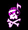 rock skull symbol vector image vector image