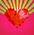 Rose Heart Valentines vector image