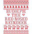 rudolph the red-nosed reindeer scandinavian vector image vector image