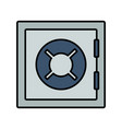 safe box money vector image vector image