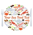 sea food label vector image vector image