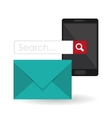 Search design lupe icon marketing concept vector image