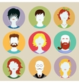 Set of avatar flat design icons vector image vector image