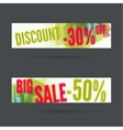 Set of discount banners vector image vector image