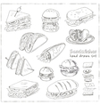 Set of sandwiches vector image vector image
