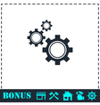 Setting icon flat vector image