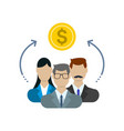 sharing economy concept financial management vector image