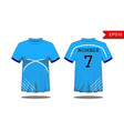 sport mens t-shirt with short sleeve in front and vector image vector image