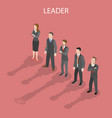 team leader isometric flat conceptual vector image