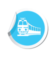 train icon round blue copy vector image