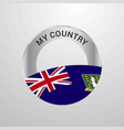 virgin islands uk my country flag badge vector image