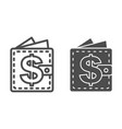 wallet line and glyph icon purse vector image vector image