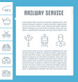 website banner and landing page railway service vector image