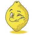 fresh lemon cartoon vector image