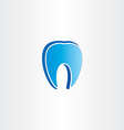 abstract tooth dentist symbol vector image