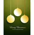 golden merry christmas design vector image