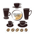 coffee collection cup bean vector image