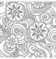 abstract hand drawn outline stylized ornament vector image