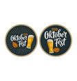 advertising design for coaster oktoberfest 2017 vector image vector image