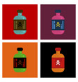 assembly flat icons potion in bottle vector image vector image
