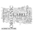 ausda organic what the heck is that words text vector image vector image
