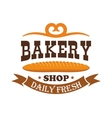 Bakery shop Daily fresh baked wheat baguette vector image vector image