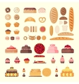 Big bakery set vector image