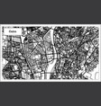 cairo egypt city map in black and white color vector image vector image