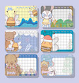 calendar event with cute animal design vector image