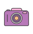 camera line filled icon vector image vector image