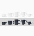 ceramic mug for tea vector image vector image