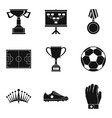 champion icons set simple style vector image vector image