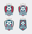 championship soccer logo or football club sign vector image vector image
