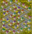 children rug - isometric carpet for game vector image vector image