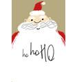 christmas greeting card with santa vector image