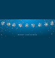 christmas or new year silver snowflake decoration vector image vector image
