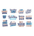 collection of friends and friendship letterings vector image