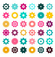 colorful cogs - gears cog gear icons set isolated vector image vector image