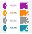 colorful text boxes 1 2 3 4 vector image vector image