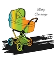 colorfull Stroller Carriage vector image vector image