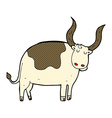 comic cartoon ox vector image