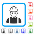 contractor framed unhappy icon vector image